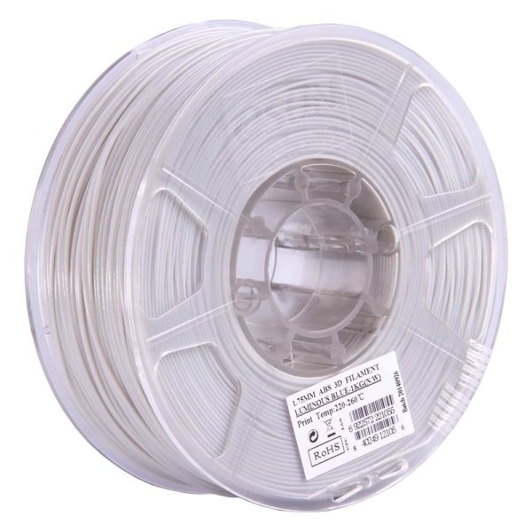 eSUN ABS Filament Självlysande Blå - 3 mm - 1 kg