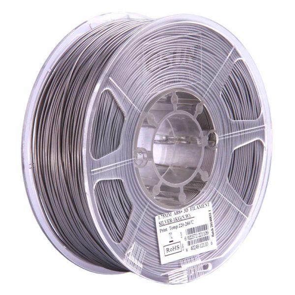 eSUN ABS+ Filament Silver - 2,85 mm - 1 kg