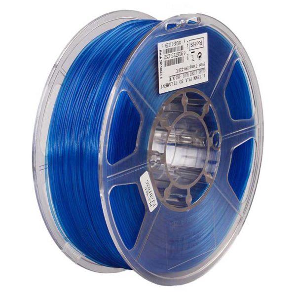 eSUN PLA Filament Ljusblå Transparent - 3 mm - 1 kg