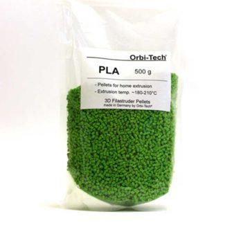 Orbi-Tech PLA Pellets Grön - 0,5 kg