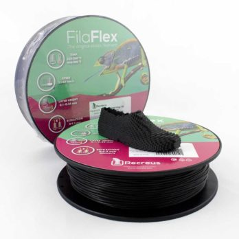 Recreus FilaFlex Filament Svart - 2,85 mm - 0,25 kg