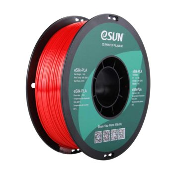 eSUN eSilk-PLA Filament Röd - 1,75 mm  - 1 kg