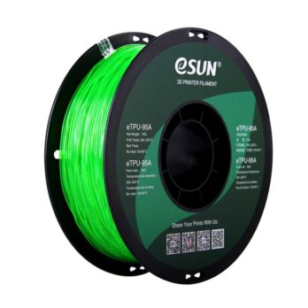 eSUN eTPU-95A Filament Grön Transparent - 1,75 mm - 1 kg