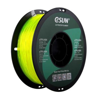 eSUN eTPU-95A Filament Gul Transparent - 1,75 mm - 1 kg